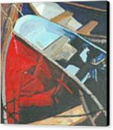 Boats At The Dock Canvas Print by Jim Peirce