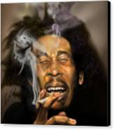 Bob Marley-burning Lights 3 Canvas Print by Reggie Duffie