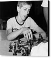 Bobby Fischer, Circa 1957 Canvas Print by Everett