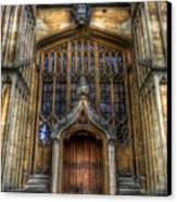 Bodleian Library Door - Oxford Canvas Print by Yhun Suarez