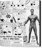 Body-building Ad, 1962 Canvas Print by Granger