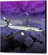 Boeing 737 Ng 001 Canvas Print by Mike Ray