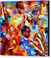 Bold Jazz Quartet Canvas Print by Debra Hurd
