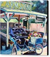 Bolinas Farmstand Bike Canvas Print by Colleen Proppe