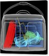 Bomb Inside Briefcase, Simulated X-ray Canvas Print by Christian Darkin