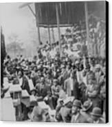 Booker T. Washington Addressing Canvas Print by Everett