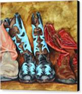 Boots Canvas Print by Lesley Alexander