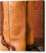 Boots With Spurs Canvas Print by Garry Gay