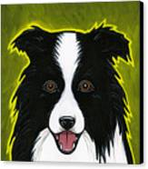 Border Collie Canvas Print by Leanne Wilkes