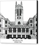 Boston College Canvas Print by Frederic Kohli