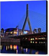 Boston Garden And Zakim Bridge Canvas Print by Rick Berk