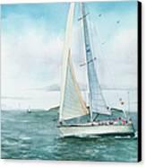 Boston Harbor Islands Canvas Print by Laura Lee Zanghetti