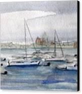 Boston Harbor  Canvas Print by Julie Lueders