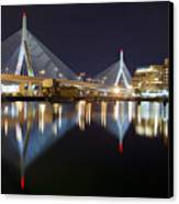 Boston Zakim Memorial Bridge Nightscape II Canvas Print by Shane Psaltis