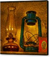 Bottles And Lamps Canvas Print by Evelina Kremsdorf