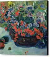 Bouquet Of Flowers Canvas Print by Paul Gauguin