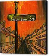 Bourbon Street Lamp Post Canvas Print by Catherine Wilson