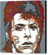 Bowie As Ziggy Canvas Print by Suzanne Gee