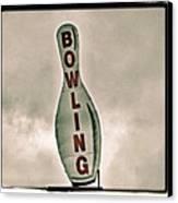 Bowling Canvas Print by Photograph by Bob Travaglione FoToEdge