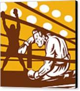 Boxer Down On His Hunches Canvas Print by Aloysius Patrimonio