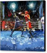 Boxing Night Canvas Print by Murphy Elliott