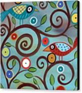 Branch Birds Canvas Print by Karla Gerard