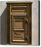 Brass Mail Box Nyc Canvas Print by Robert Ullmann