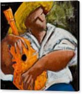 Bravado Alla Prima Canvas Print by Oscar Ortiz