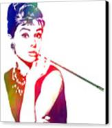 Breakfast At Tiffany's Canvas Print by The DigArtisT