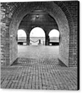Brick Arch Canvas Print by Greg Fortier