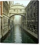 Bridge Of Sighs In Venice Canvas Print by Michael Henderson