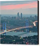 Bridge Over Bosphrous Canvas Print by Salvator Barki