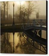 Bridge Over Still Waters Canvas Print by Wayne Archer