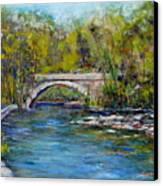 Bridge Over Wissahickon Creek Canvas Print by Joyce A Guariglia
