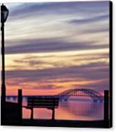 Bridge Reflection Canvas Print by Vicki Jauron