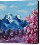 Bright Blue Mountains Canvas Print by Jera Sky