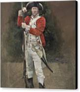 British Infantryman C.1777 Canvas Print by Chris Collingwood