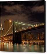 Brooklyn Bridge At Dusk Canvas Print by Shawn Everhart