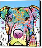 Brooklyn Pit Bull 2 Canvas Print by Dean Russo