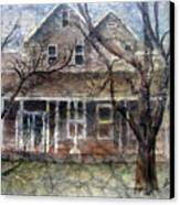 Brown Batik House Canvas Print by Arline Wagner