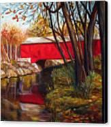 Brown County Bridge Canvas Print by Dorothy Riley