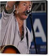 Bruce Springsteen In Cleveland Canvas Print by Brian M Lumley