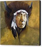 Buffalo Shaman Canvas Print by J W Baker