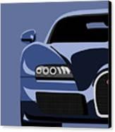 Bugatti Veyron Canvas Print by Michael Tompsett