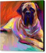 Bullmastiff Dog Painting Canvas Print by Svetlana Novikova