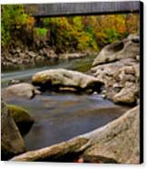 Bulls Bridge - Autumn Scene Canvas Print by Thomas Schoeller