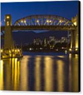 Burrard Street Bridge Vancouver Canvas Print by Naman Imagery