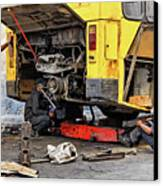 Bus Repairs Canvas Print by Dawn Currie