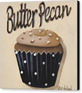 Butter Pecan Cupcake Canvas Print by Catherine Holman