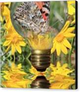 Butterfly In A Bulb II Canvas Print by Shane Bechler